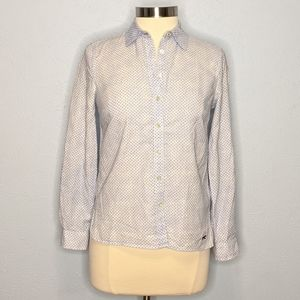 Talbots PP Button Front Dot Shirt